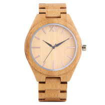 Bamboo Wristwatch, Men Full Natural Bamboo Wooden Bracelet, Elegant Zebra Stripe Watch Bamboo Wristwatch Bracelet