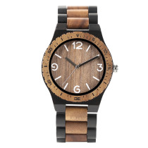 Watches for Men, Full Wood Strap Wooden Watches Men Fashion Bamboo Quartz Wristwatches