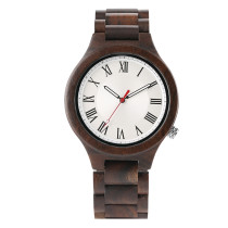 Newest Men's Watch, Casual Business Wristwatch, Full Wood Watch with Rome Number Dial Watch for Men Women