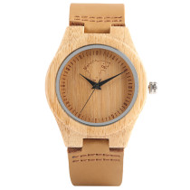 Game of Thrones Women Wood Watch, Creative Quartz Wolf Wristwatch, Nature Wooden Bamboo Wristwatch Bracelet