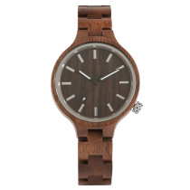 New Fashion Wooden Watch, Women Dress Quartz Wood Watch Analog Wristwatch, Bamboo Wristwatch Bracelet