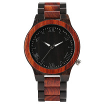 Men's Watch, Vintage Bamboo Wood Case Natural Wristwatch, Bamboo Wristwatch Bracelet with Full Wooden Band