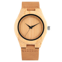 Woman Wood Watch, Unisex Simple Bamboo Watches Hot Sale Nature Wood Watch, Bamboo Wristwatch Bracelet