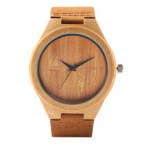 Unique Bamboo Wristwatch, Handmade Bamboo Watch for Women Men, Casual Quartz Bamboo Watches