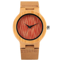 Wavy Face Wooden Women Watches, Woman's Wristwatch es Handmade Nature Wood Watch, Bamboo Wristwatch Bracelet