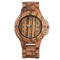 Wooden Watches, Luxury Full Wooden Watch Men Fashion Simple Zebra Wood Watch, Analog Creative Watches Bamboo Wristwatch Bracelet