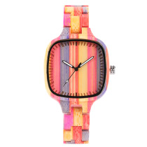 Colorful Bamboo Woods Watches, Fashion Environmental Protection Wooden Watch, Bamboo Wristwatch Bracelet