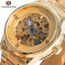 Fashion Mens Watch, Automatic Mechanical Watch Stainless Steel Band, Gift Watch for Men