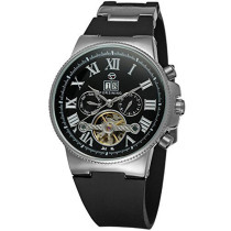Mens Watch, Luxury Skeleton Mechanical Wrist Watch Tourbillon Automatic Clock, Gift for Men