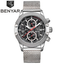 BENYAR Brand Watch, Business Watches Chronograph Quartz Man Wristwatches, Watch for Men