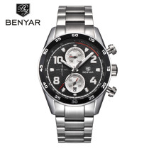 BENYAR Men's Watch, Fashion Stainless Steel Belt Sport Business Quartz Watch Wristwatches, Gift for Men