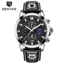 Men's Watch, Waterproof Hollow Design Wristwatch, Chronograph Sport Stainless Steel Luxury Watch for Men Women