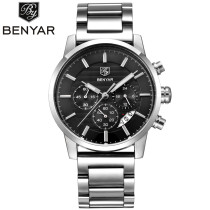 New Fashion Business Watch, Men Stainless Steel 3ATM Water Resistant Quartz Wrist Watch, Watch for Men