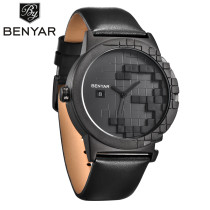 BENYAR Unique Watch, Little Box Dial Design Quartz LUXURY Dress Mens Wrist Watches Date Display, Watch for Men
