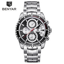 BENYAR Wristwatch, Chronograph Men's Watch, Date Waterproof Sport Watch for Women Men