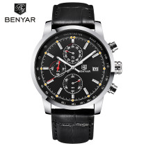 Watch for Men, Fashion Japanese Quartz Movement Leather Band Watch, Chronograph Function for Men