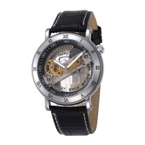SHENHUA Transparent Dial Watch, Mens Watches Clock Men Automatic Skeleton Wrist Watch, Gift Watch for Men