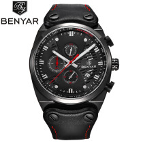 Mens Watch, Fashion Stainless Steel Case Analog Chronograph Quartz Wrist Watch, Watch for Men