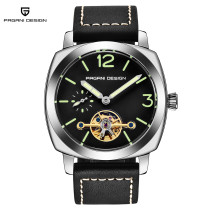 PAGANI DESIGN Men's Watch, Automatic Self-Wind Watch for Men Women, Square Dial Skeleton Wristwatch