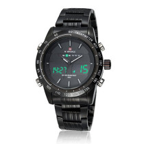 Men Military Watch, Digital LED Watch 3ATM Waterproof Stainless Steel Strap Wrist Watch, Gift for Men