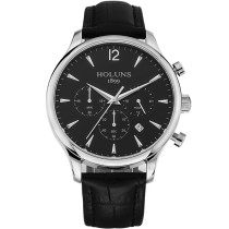 HOLUNS Watch, Chronograph Quartz Men's Wristwatch Date Display Genuine Leather Strap, Watch for Men