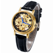 Luxury Watch, WINNER Golden Skeleton Mechanical Wrist Watch, Gift for Women Lady Girl