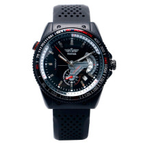 WINNER Unique Watch, Edition Date Dial Design Silicone Automatic Mechanical Wrist Watch, Gift for Men