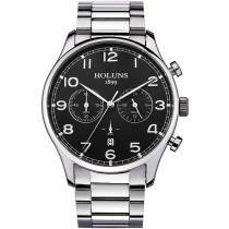HOLUNS Luxury Watch, Business Military Quartz Stainless Steel Watches Man Dress Wrist Watch, Watch for Men