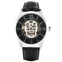 T-WINNER Men Watch, Luxury Skull Skeleton Mechanical Military Wrist Watch, Luxury Gifts for Men