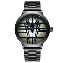 BIDEN Fashion Creative Spider Dial Men Watch, Luxury Brand Stainless Steel Quartz Wristwatch, Waterproof Sport for Men Watch New