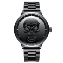 Men's Watch, Retro Skull Punk Mens Watch Unique Fashion 3ATM Waterproof Quartz Wristwatches, Gift for Men