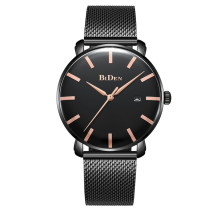 BIDEN 3 Color Luxury Brand Men Watch, Fashion Analog Sports Men's Stainless Steel Mesh Quartz Wristwatch, Male Display Date Clock Relogio Masculino for Men Watch