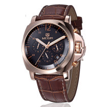 Luxury Sports Watches, Men Military Quartz Wristwatches Genuine Leather Wrist Watches, Gift Watch for Men
