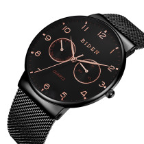 BIDEN 2018 New Fashion Men Watch, Mesh Stainless Steel Top Brand Luxury Wristwatch, Relogio Masculino Clock Gift for Men Watch