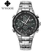 WWOOR Men's Sports Watch, Male Fashion LED LCD Digital Quartz Wristwatches, Gifts for Men