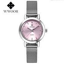 WWOOR Women Watch, Fashion Elegant Quartz Wrist Watch Stainless Steel Band Hook Buckle, Watch Gift for Men