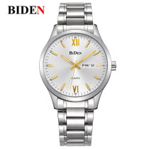 BIDEN Watch, Quartz Wristwatch Business Style Men's Waterproof Bangle Wrist Watches, Gifts for Men