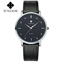 WWOOR Men's Watch, Luxury Business Watch Men Casual Quartz Leather Wristwatch, Army Military Watch Gift for Men