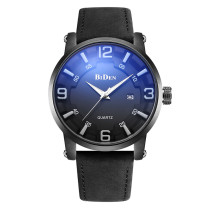 BIDEN Sport Casual Top Brand Luxury Men Watch, Auto Date Genuine Leather Strap Quartz Wristwatch, Army Business Fashion Male Clock for Men Watch