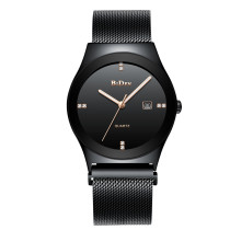 BIDEN Fashion Simple Luxury Brand Quartz Men Watch, Stainless Steel Mesh Waterproof Strap Thin Wristwatch, Casual Clock Gift for Men Watch