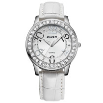 BIDEN Brand Men's Watch, Luxury Lady Watch Fashion Fine Rhinestone Crystal Dial Clock, Watch for Men