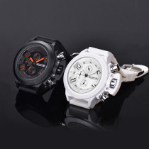 Mens Watch, Sport Waterproof Silicone Quartz Watch for Men Women, Muti-Function Military Wristwatches