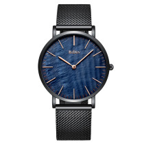 BIDEN Men Quartz Watches Fashion 2018, Business Luxury Men Mesh Stainless Steel Strap Wristwatch, Waterproof Clock for Men Watch