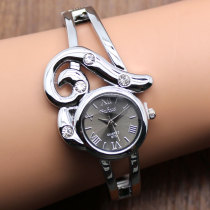Women's Fashion Bracelet Watch, Bangle Crystal Stainless Steel Quartz Chic Wrist Watch, Gift for Women