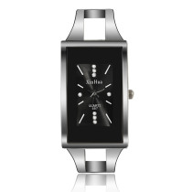 Ladies Bracelet Watch, Rectangular Dial Quartz Wrist Watch, Crystal Fashion Brand Xinhua Watch for Women