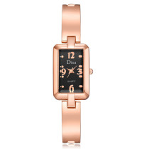 Women's Bracelet Watches, Square Case Stainless Steel Alloy Wrist Watch, Casual Simple Quartz Watch for Women