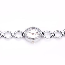 Women Rhinestone Bracelet Watch, Round Case Stainless Steel Roman Numeral Quartz Wrist Watch, Best Watch Gift for Women
