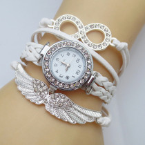 Women's Bracelet Watch, Fashion Bracelet Watch Crystal Wing Wrist Watch, Leather Strap Quartz Watches for Women
