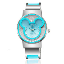 Women's Watch, Mickey Bracelet Watches Women dress Analog Girl Cute rolling Rhinestone wristwatches 2015 Ladies Casual Quartz watch
