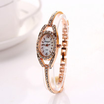 Fashion New Women's Bracelet Watch, Oval Case Stainless Steel Crystal Dial Quartz Watch, Best Wrist Watch Gift for Women